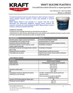 Tencuiala Decorativa Kraft.Kraft Silicone Plaster Rareș Construct