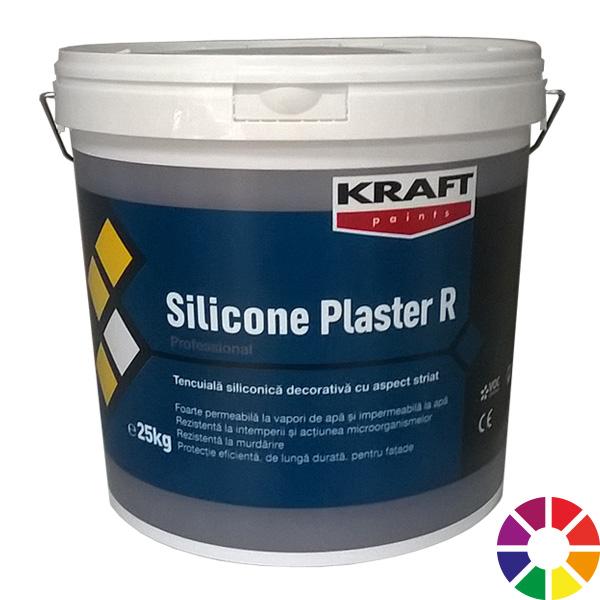 Tencuiala Decorativa Siliconica Exterior Pret.Kraft Silicone Plaster Rareș Construct